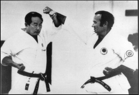 Photo: Sensei M. Nakayama (left), Sensei L. B. Safar (right)